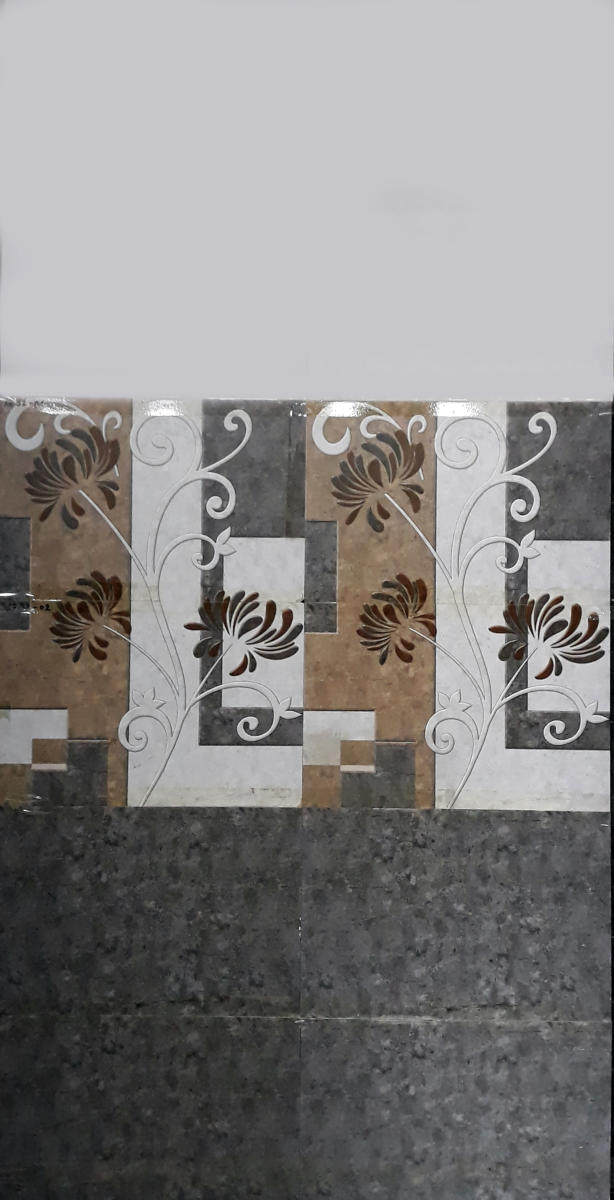 Bijeshwori Bathroom wall tiles flower design with blocks